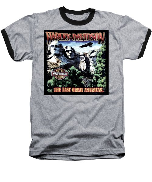 Harley Davidson The Last Great American Baseball T-Shirt by Gina Dsgn