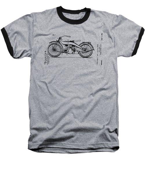 Harley Motorcycle Patent Baseball T-Shirt