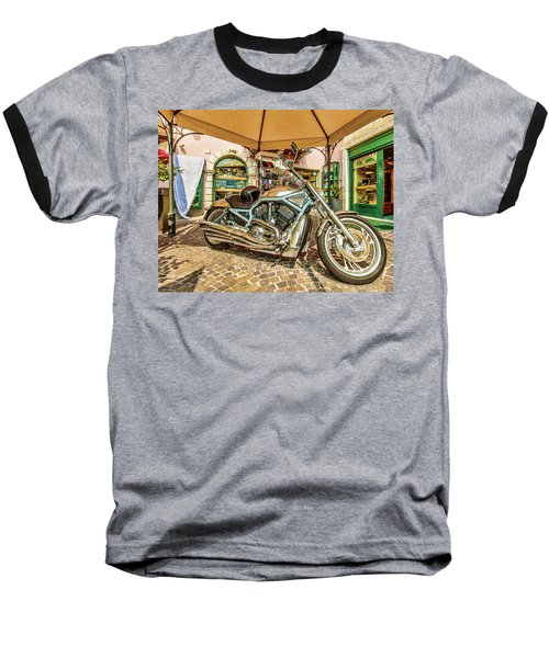 Harley Baseball T-Shirt by Roy McPeak