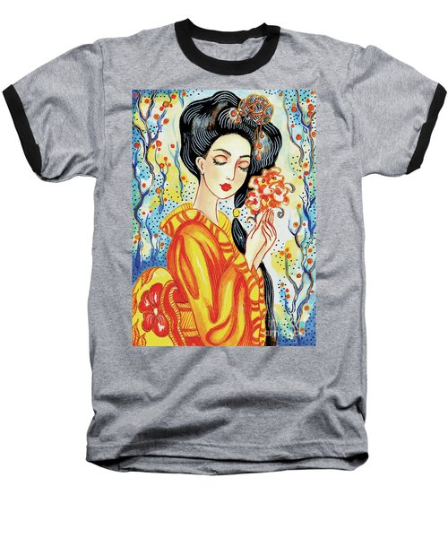 Baseball T-Shirt featuring the painting Harmony by Eva Campbell