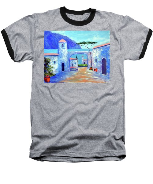 Baseball T-Shirt featuring the painting Harmony Of Como by Larry Cirigliano