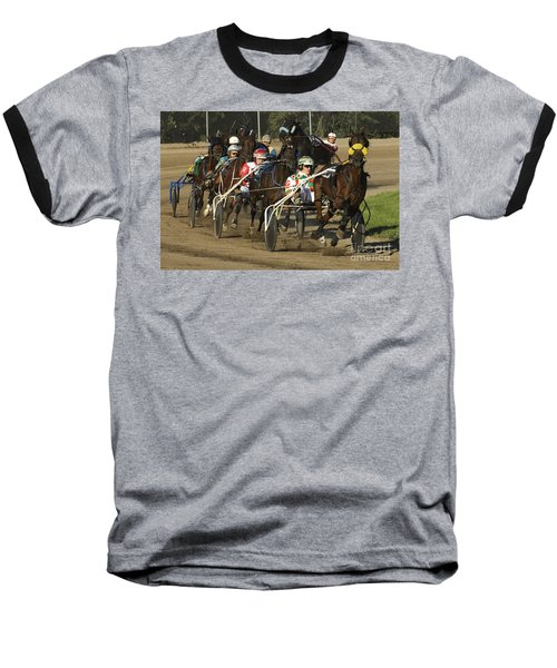 Harness Racing 9 Baseball T-Shirt by Bob Christopher