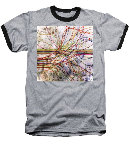 Baseball T-Shirt featuring the digital art Harnessing Energy 1 by Angelina Vick