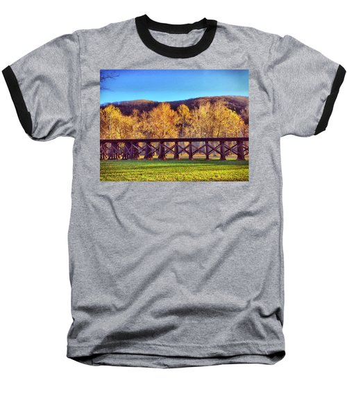 Harpers Ferry Train Tracks Baseball T-Shirt