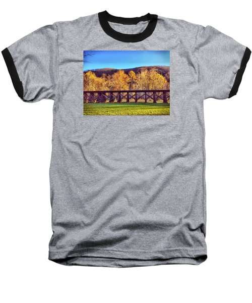 Harpers Ferry Train Tracks Baseball T-Shirt