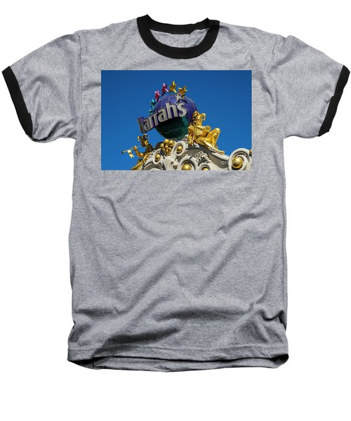 Harrah's Casino Sign On The Las Vegas Strip Baseball T-Shirt