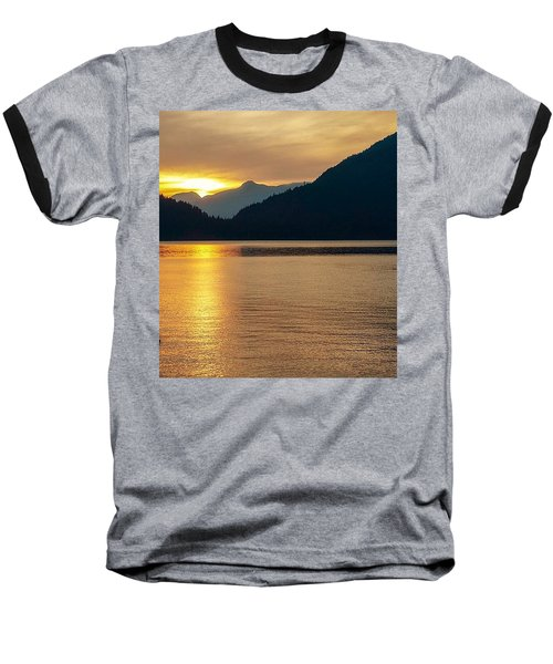 Harrison Lake, British Columbia Baseball T-Shirt by Heather Vopni