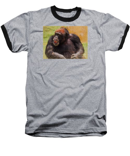 Baseball T-Shirt featuring the painting Harry by Judy Kay
