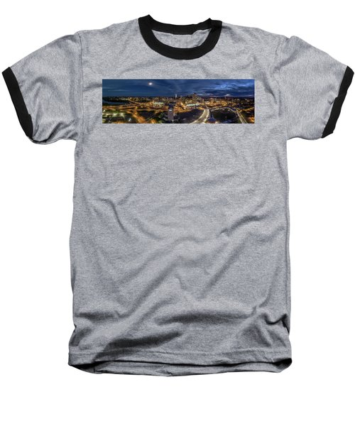 Hartford Ct Night Panorama Baseball T-Shirt