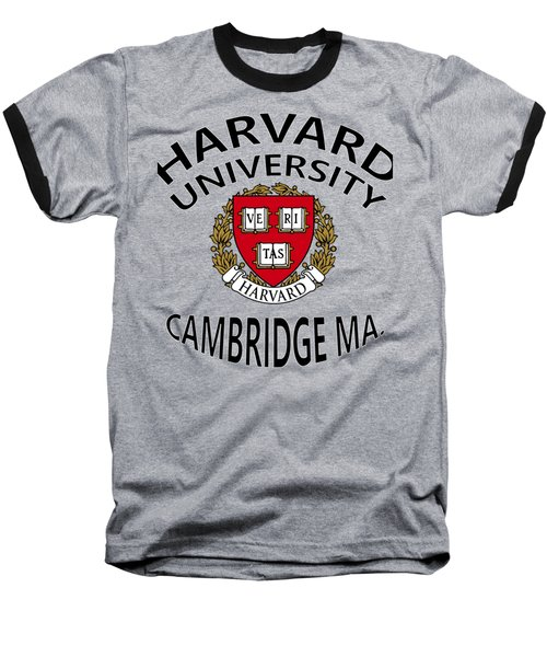 Harvard University Cambridge M A  Baseball T-Shirt by Movie Poster Prints