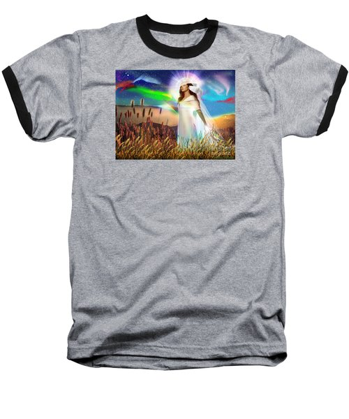 Baseball T-Shirt featuring the digital art Harvest Bride by Dolores Develde