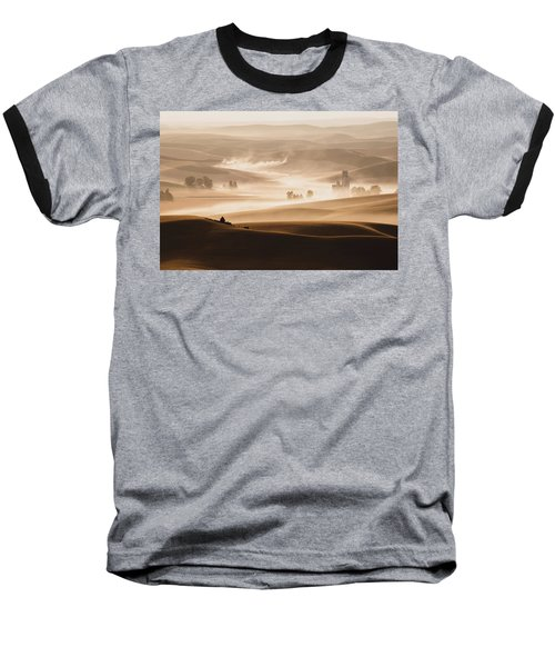 Baseball T-Shirt featuring the photograph Harvest Dust by Chris McKenna