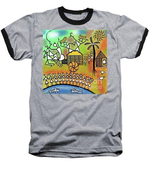 Harvest Baseball T-Shirt by Latha Gokuldas Panicker