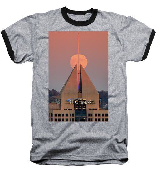 Baseball T-Shirt featuring the photograph Harvest Moon In Pittsburgh  by Emmanuel Panagiotakis