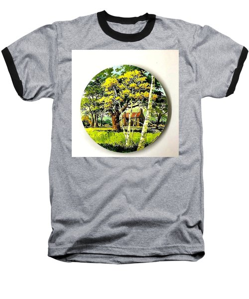 Harvest Moon Landscape Baseball T-Shirt