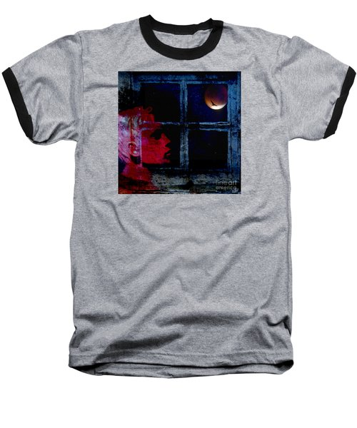 Baseball T-Shirt featuring the photograph Harvest Moon by LemonArt Photography