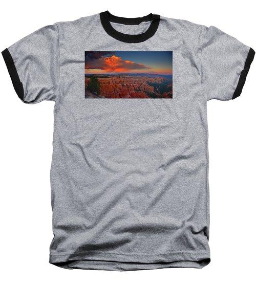 Harvest Moon Over Bryce National Park Baseball T-Shirt by Raymond Salani III