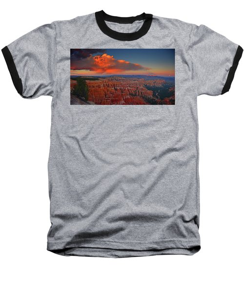 Harvest Moon Over Bryce National Park Baseball T-Shirt