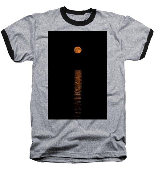 Baseball T-Shirt featuring the photograph Harvest Moonrise by Paul Freidlund