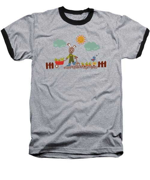 Harvest Time Baseball T-Shirt by Kathrin Legg