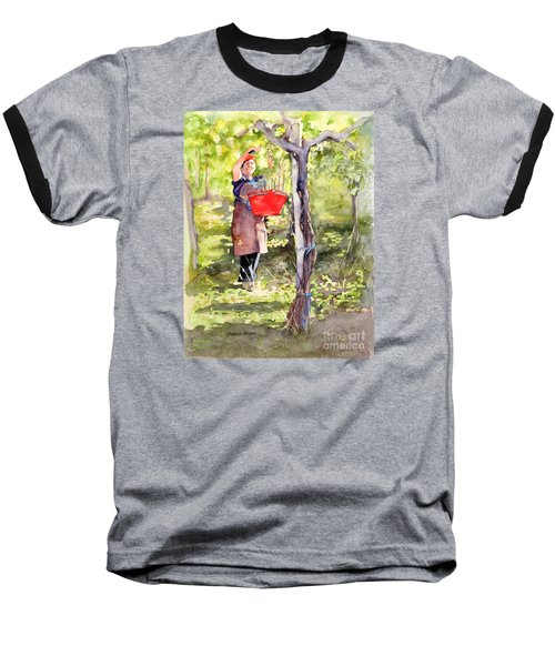 Harvesting Anna's Grapes Baseball T-Shirt