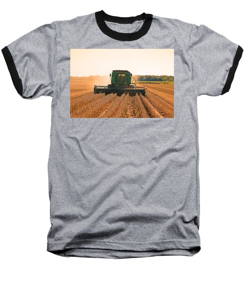 Harvesting Soybeans Baseball T-Shirt by Ronald Olivier