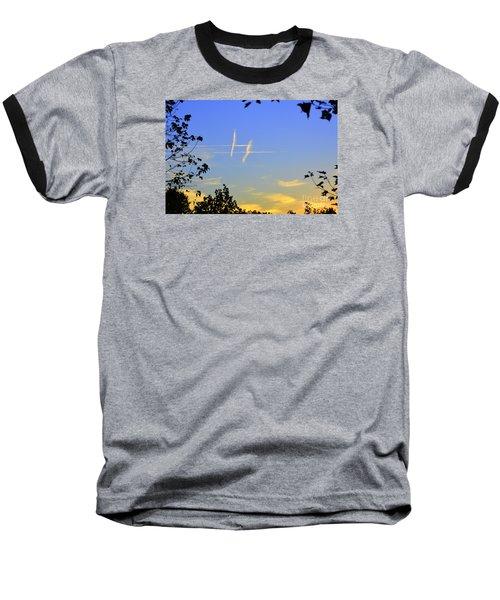 Hashtag Sky Baseball T-Shirt by Lew Davis