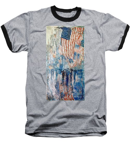 Hassam Avenue In The Rain Baseball T-Shirt