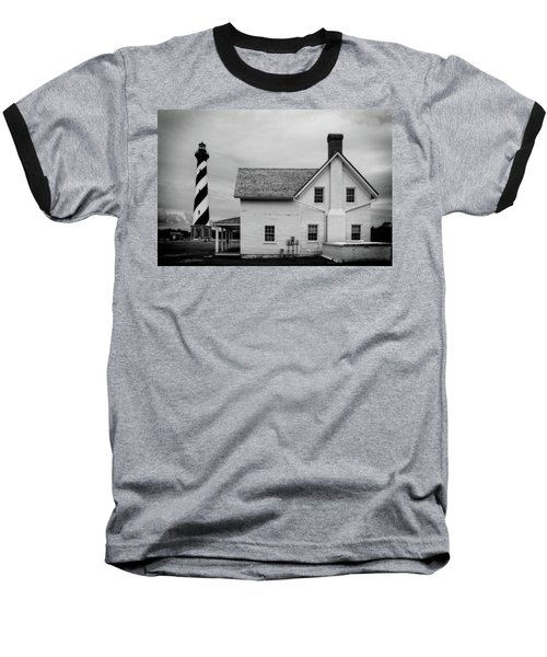 Baseball T-Shirt featuring the photograph Hatteras Light Keepers Quarters by Alan Raasch