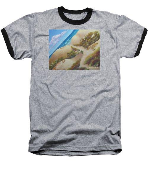 Hatteras Seashore Baseball T-Shirt by Anne Marie Brown