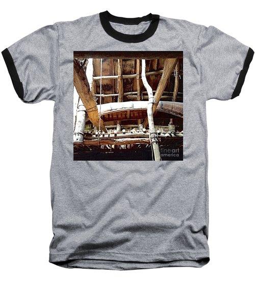 Haudenosaunee Longhouse  Baseball T-Shirt