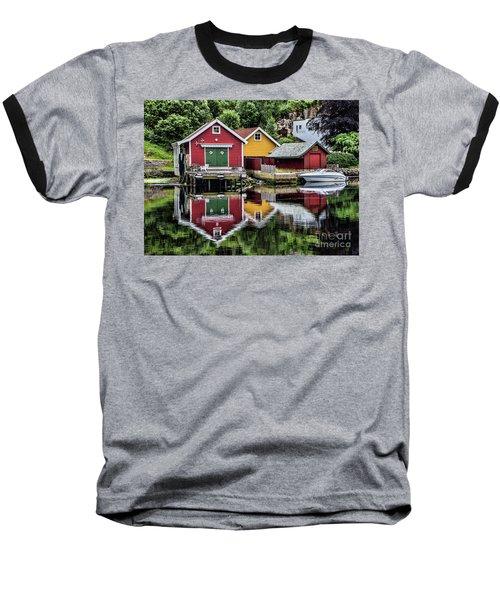 Haugesund Reflections Baseball T-Shirt by Shirley Mangini