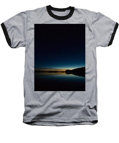 Baseball T-Shirt featuring the photograph Haukkajarvi By Night With Ursa Major 2 by Jouko Lehto