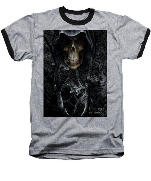 Baseball T-Shirt featuring the photograph Haunted Forest by Al Bourassa