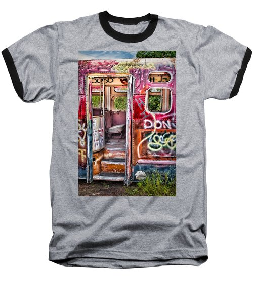 Haunted Graffiti Art Bus Baseball T-Shirt