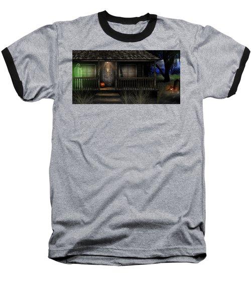 Haunted Halloween 2016 Baseball T-Shirt by Anthony Citro