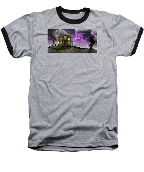 Haunted Halloween Baseball T-Shirt