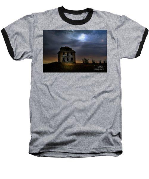 Haunted House Baseball T-Shirt