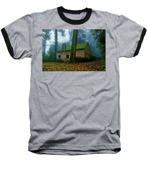 Baseball T-Shirt featuring the photograph Haunted House by Jorge Maia