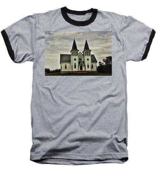Haunted Kipling Church Baseball T-Shirt by Ryan Crouse