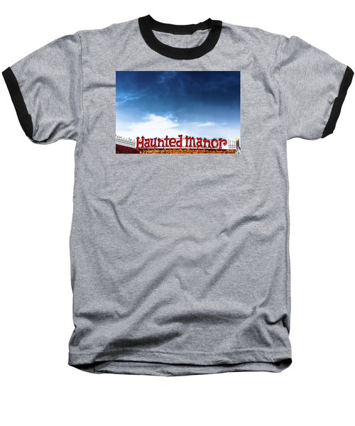 Baseball T-Shirt featuring the photograph Haunted Manor  by Colleen Kammerer