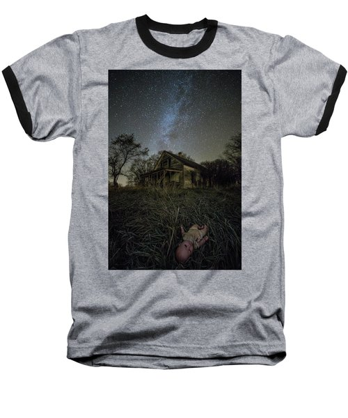 Baseball T-Shirt featuring the photograph Haunted Memories by Aaron J Groen