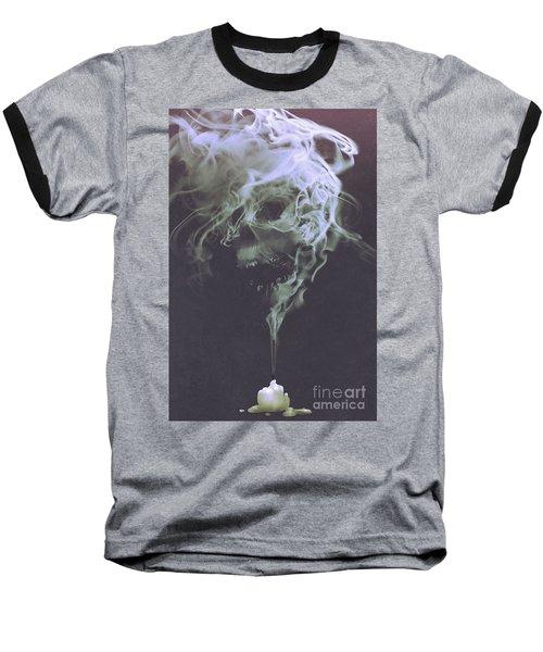 Haunted Smoke  Baseball T-Shirt