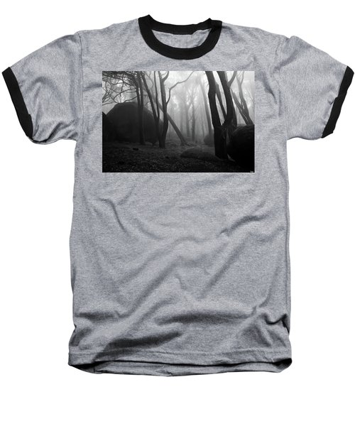 Baseball T-Shirt featuring the photograph Haunted Woods by Jorge Maia