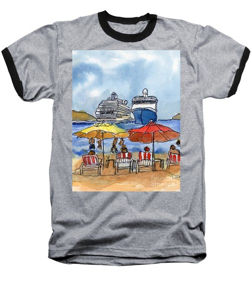 Hautuco Dock Baseball T-Shirt by Randy Sprout