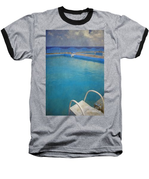 Baseball T-Shirt featuring the photograph Havana Cuba Swimming Pool And Ocean by David Zanzinger