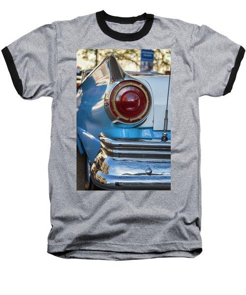 Baseball T-Shirt featuring the photograph Havana Cuba Vintage Car Tail Light by Joan Carroll