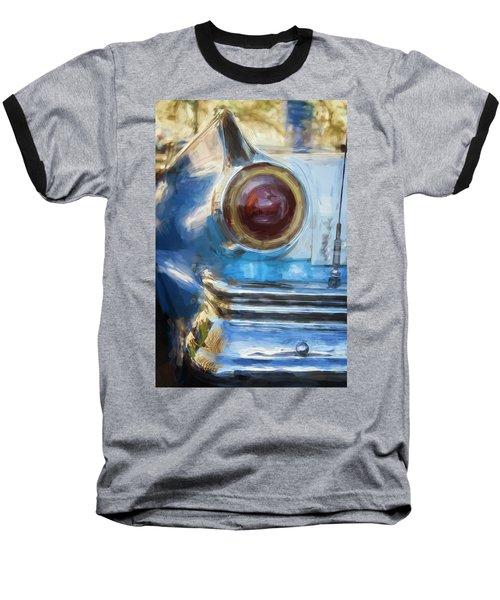 Baseball T-Shirt featuring the photograph Havana Cuba Vintage Car Tail Light Painterly by Joan Carroll