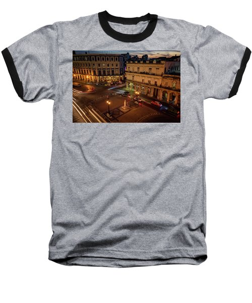 Baseball T-Shirt featuring the photograph Havana Nights by Joan Carroll