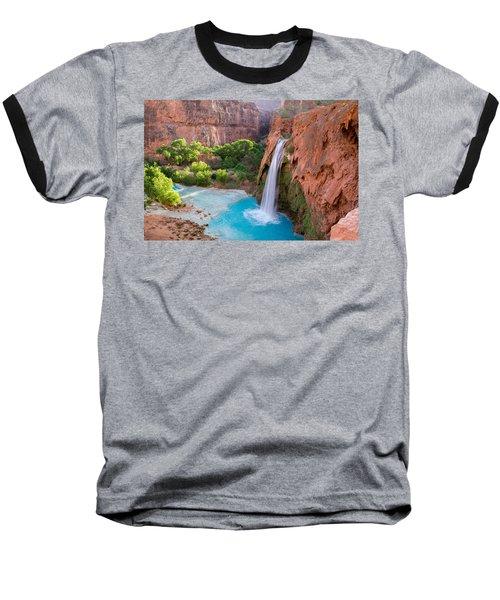 Havasu Falls, Arizona 2 Baseball T-Shirt by Serge Skiba